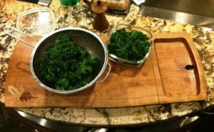 Veggie Board with Kale 1